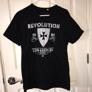 Guess black t shirt logo